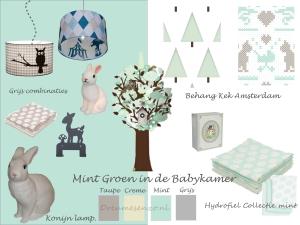 mintgroene babykamer