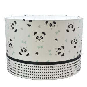 panda lamp mint, zwart, wit