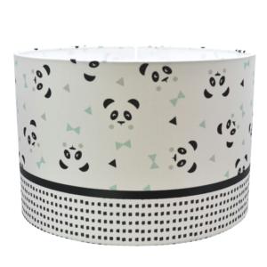 panda lamp mint, zwart, wit