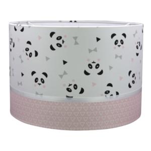 Panda hanglamp roze, zwart, wit
