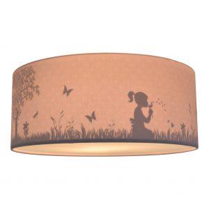 Land of Kids Plafondlamp silhouette dandelion roze