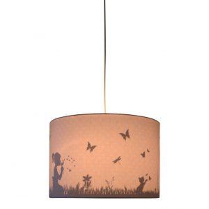 Land of Kids silhouette hanglamp dandelion roze